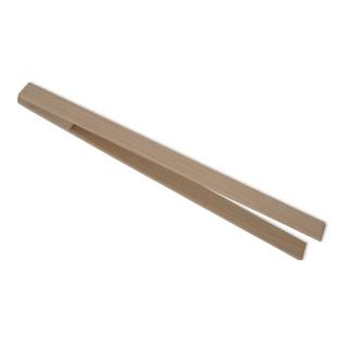 Holzzange / Grillzange Buchenholz 35 cm. Sozial gefertigt - Dominikus-Ringreisen Werk -  Werkstatt für behinderte Menschen.