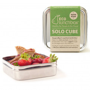 Brotdose Solo Cube C1 aus Edelstahl von ECOlunchbox