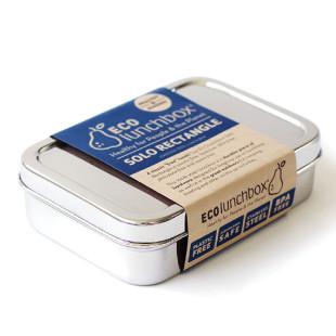 Brotdose Solo Rectangle aus Edelstahl von ECOlunchbox.