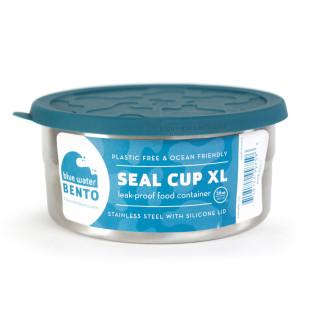 SEAL CUP XL aus Edelstahl von ECOlunchbox. Nachhaltige und langlebige Frischhaltebox / Lunchdose mit auslaufsicheren Silikondeckel.