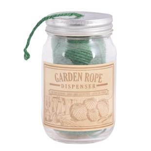 Gartenschnur grün im Spender-Glas von Esschert Design.