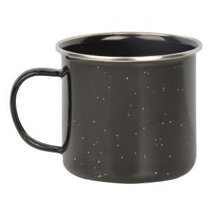 Emaille Becher von Esschert Design in schwarz. Die Tasse fürs Lagerfeuer, Camping oder den morgendlichen Kaffee.