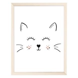 Das Artprint Poster von Eulenschnitt - Glückliche Katze.