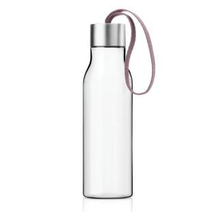 Eva Solo Trinkflaschen mit verchromten Deckel und Handschlaufe nordic rose.