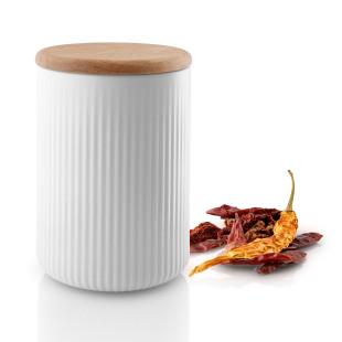 Große Vorratsdose weiß 1 l mit Rillung von Eva Solo Design. Gerillte Aufbewahrungsdose LEGIO NOVA Keramikgeschirr weiß.