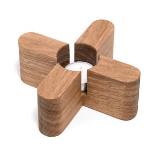Stövchen von FAIRWERK. Holzstövchen aus Eiche - nachhaltig produziert - Werkstatt für behinderte Menschen.