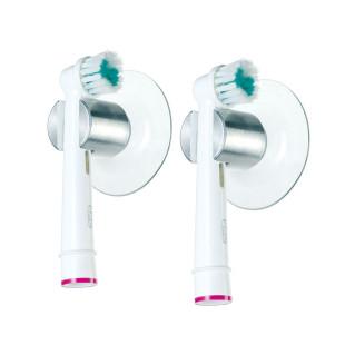 Zahnbürstenhalter Elektro Aluminium mit Saugnapf 2er-Set. Für Hand- und Elektrozahnbürsten. Fair + Sozial Design von FAIRWERK
