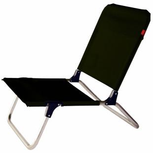 Kleiner Strandstuhl QUICK mit schwarzem Textilene-Bezug von FIAM. Der kleine Stuhl fürs Camping, Baden oder den Strandurlaub.