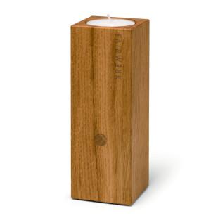 Zündkerze Quader - Teelichthalter aus Holz mit Feuerzeug-Versteck - FAIRWERK Design