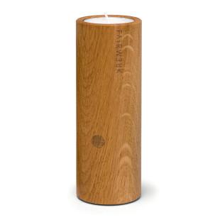 Zündkerze - Teelichthalter aus Holz mit Feuerzeug-Versteck - FAIRWERK Design - Zylinder