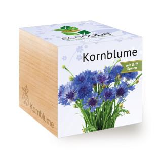 Kornblume im Pflanzwürfel ecocube. Erwecken Sie die Kornblume im Holzwürfel von Feel Green zum Leben.