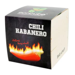 Pflanzwürfel Chili Habanero mit persönlicher Gravur