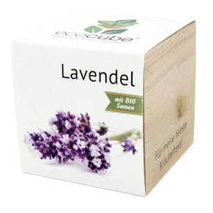 Pflanzwürfel Lavendel mit persönlicher Gravur