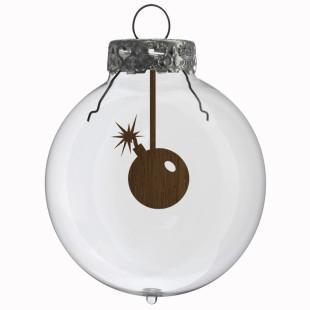 Glaskugel / Weihnachtskugel Bombe