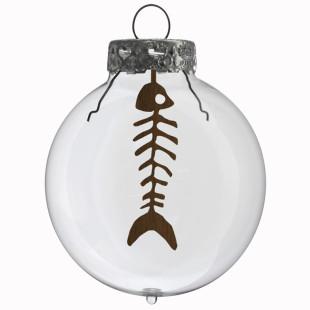 Glaskugel / Weihnachtskugel Fisch