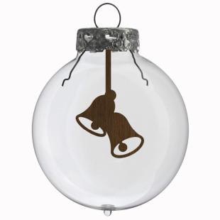 Glaskugel / Weihnachtskugel Glocken