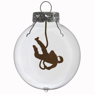 Glaskugel / Weihnachtskugel Kosmonaut
