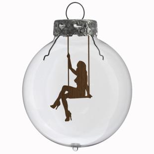 Glaskugel / Weihnachtskugel Schaukel #1