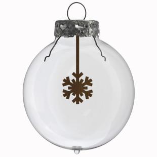 Glaskugel / Weihnachtskugel Schneestern