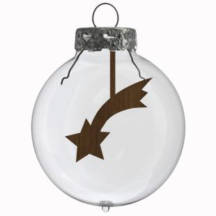 Glaskugel / Weihnachtskugel Sternschnuppe