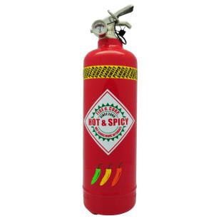 Fire Design Feuerlöscher HOT & SPICY. Moderner Feuerlöscher rot mit Wandaufhängung - Feuerlöscher für die Küche ...