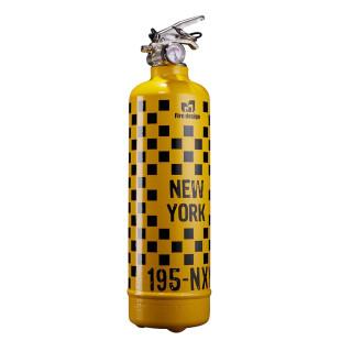 Design Feuerlöscher 1 kg NY TAXI gelb-schwarz