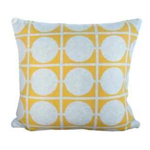 Kissenbezug DON vom skandinavischen Designlabel Funky Doris. Strickkissen / Zierkissen / Sofakissen ... gelb - Baumwolle.