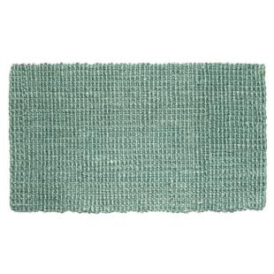Fußmatte Hampton, Jute Matte türkis 75 x 45 cm