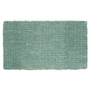 Fußmatte Hampton, Jute Matte türkis 90 x 60 cm