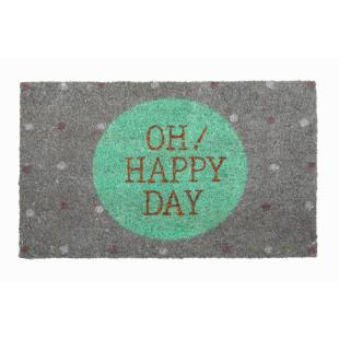 Kokos Fußmatte mit goldenem Schriftzug OH HAPPY DAY von Gift Company