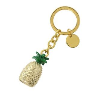 Gift Company Schlüsselanhänger pinapple aus der Serie TROPICAL PUNCH. Design Schlüsselanhänger mit goldener Ananas.