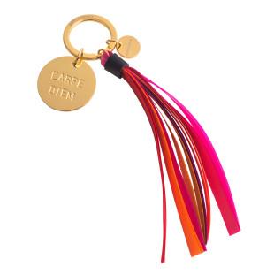 Gift Company Schlüsselanhänger CARPE DIEM. Schlüsselanhänger aus Metall geprägt + Quaste.