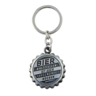 Must-Have für Bierfreunde! Personalisierter Flaschenöffner: Bier kaltstellen ist auch irgendwie kochen! Originelles Geschenk für Männer.
