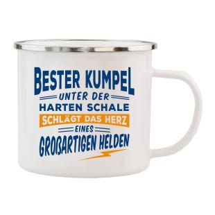 Spruchtasse / Henkeltasse mit Spruch Bester Kumpel ... großartiger Held. Geschenk für Kumpels.