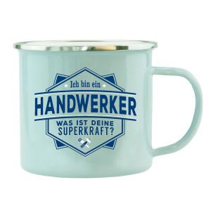 Spruchtasse für Handwerker / Henkeltasse mit Spruch Ich bin Handwerker, was ist Deine Superkraft?. Geschenk für Handwerker.