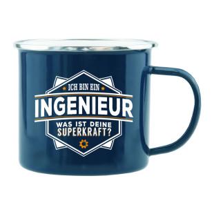 Spruchtasse für Handwerker / Henkeltasse mit Spruch Ich bin Ingenieur, was ist Deine Superkraft?. Geschenk für Elektriker.
