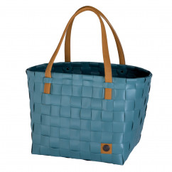 COLOR BLOCK Shopper von Handed By in teal blue.