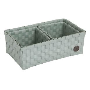 Flechtkörbe VOLTERRA 3er-Set, mint greyish green - Kunststoff Körbe Set von Handed By