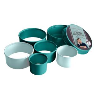 Keksausstecher rund, glatt von Jamie Oliver 5er-Set