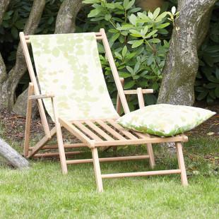 Liegestuhl Deckchair mit Fußteil Blume Greenwich Leaf
