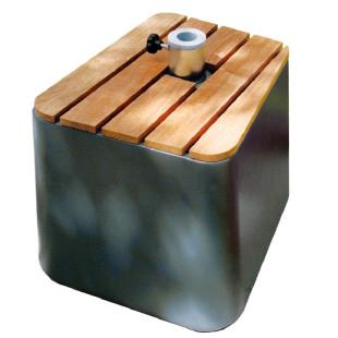 Schirmständer Fill Up inkl. Holzabdeckung