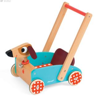 Schiebewagen / Holzwagen Hund - Crazy Dog