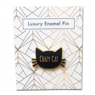 Luxury Enamel Pin Crazy Cat -  Jungle Empire - Fashion-Pin -  Katze