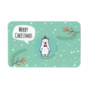 Reinigungspad MERRY CHRISTMAS - Mini Display Cleaner, Eisbär
