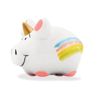 Mini Einhorn Schwein mit Magnet aus Keramik - KCG Chaoskind.