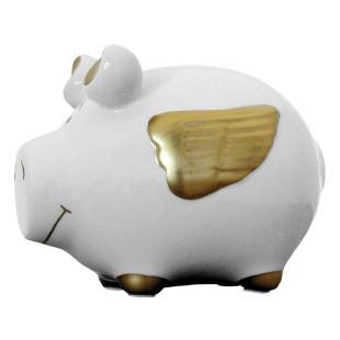 Sparschwein Engel, gold