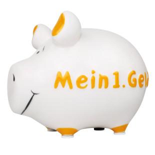 Sparschwein Mein 1. Geld von KCG. Sparschweinchen aus Keramik.
