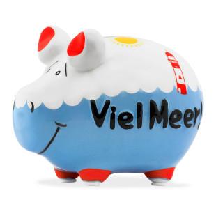 Keramik Sparschwein Viel Meer! von KCG. Tolles Sparschweinchen für´s Urlaubsgeld.