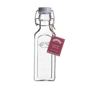 Glasflasche mit Bügelverschluss 300 ml eckig. Drahtbügelflasche 0,3 l von Kilner. Glas Aufbewahrung.