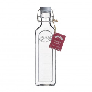 Glasflasche mit Bügelverschluss 600 ml eckig. Drahtbügelflasche 0,6 l von Kilner. Glas Aufbewahrung.